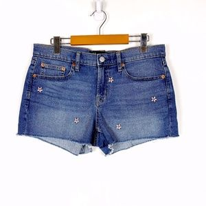 Gap Denim Shorts with Embroidered Flowers